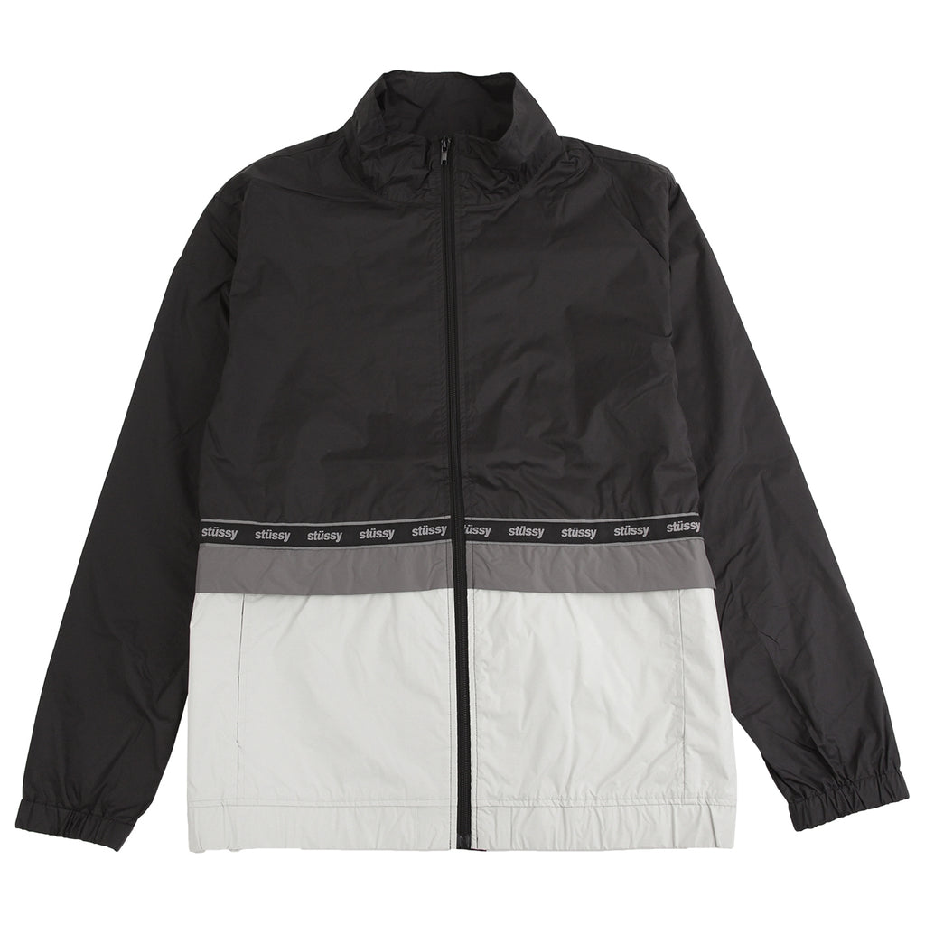 Stussy Nylon Warm Up Jacket in Black