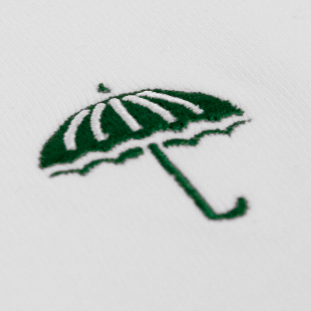 Helas Classic T Shirt in White / Green - Embroidery