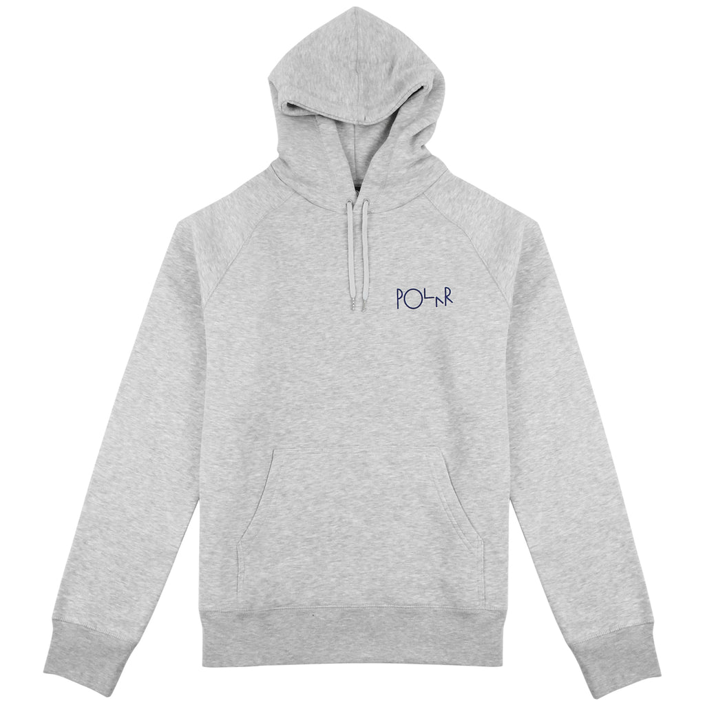 Polar Skate Co Fill Logo Hoodie in Sports Grey / Navy - Front