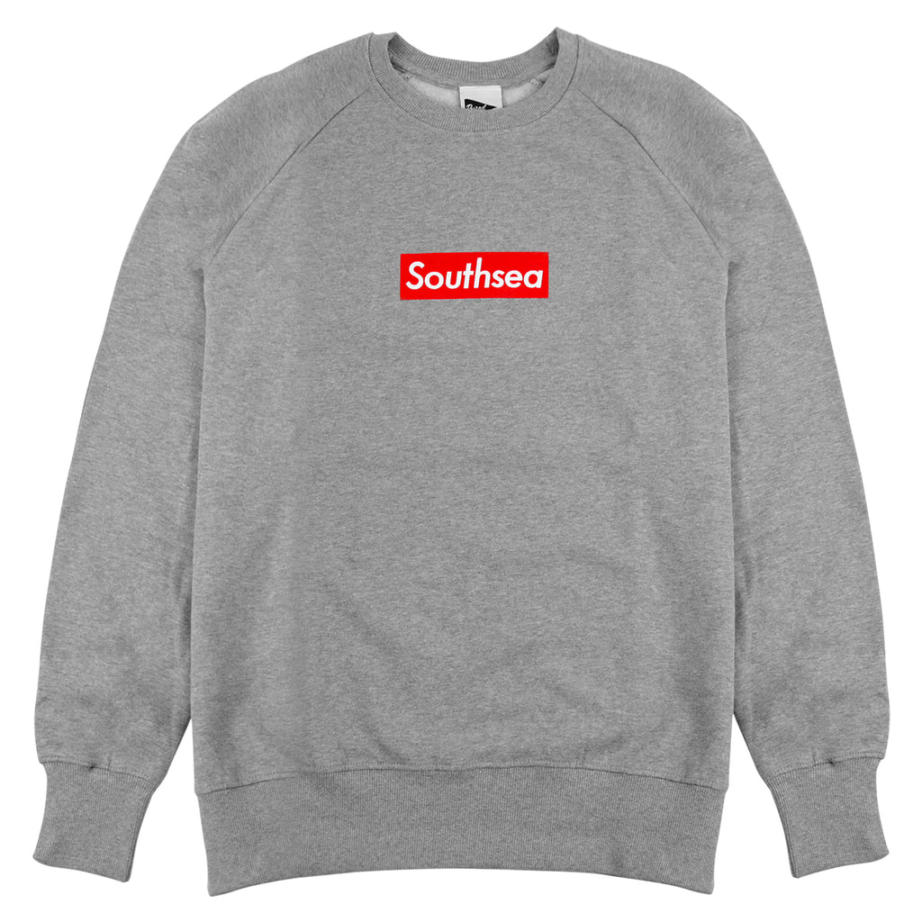 "Bored of Southsea ""Southsea"" Sweatshirt in Heather Grey / Red Box"