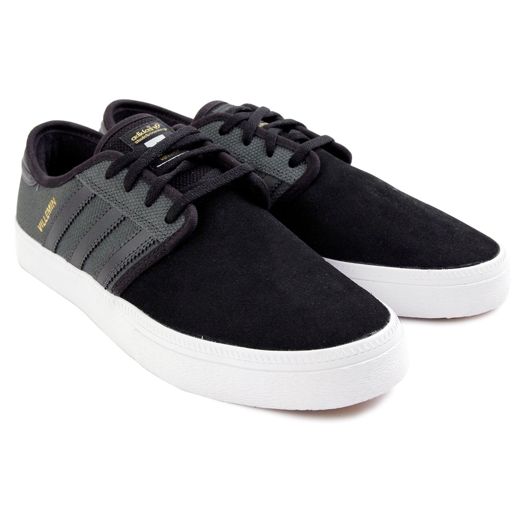 Adidas Skateboarding Seeley ADV Pro Villemin Shoes in DGH Solid Grey / DGH Solid Grey / Core Black - Pair