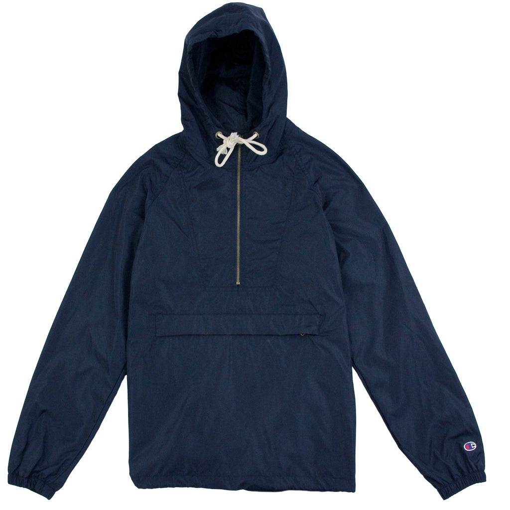 Champion Pop Over Coach Jacket in Navy - Front