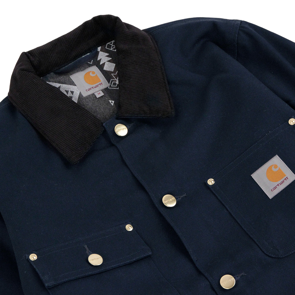 Carhartt Michigan Chore Coat in Navy Rigid - Detail