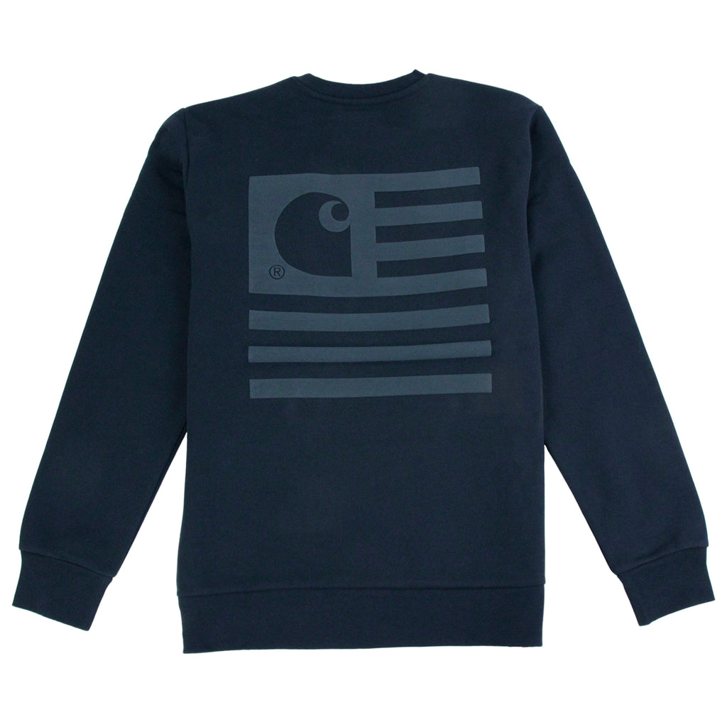 Carhartt State Flag Sweatshirt in Navy / Navy