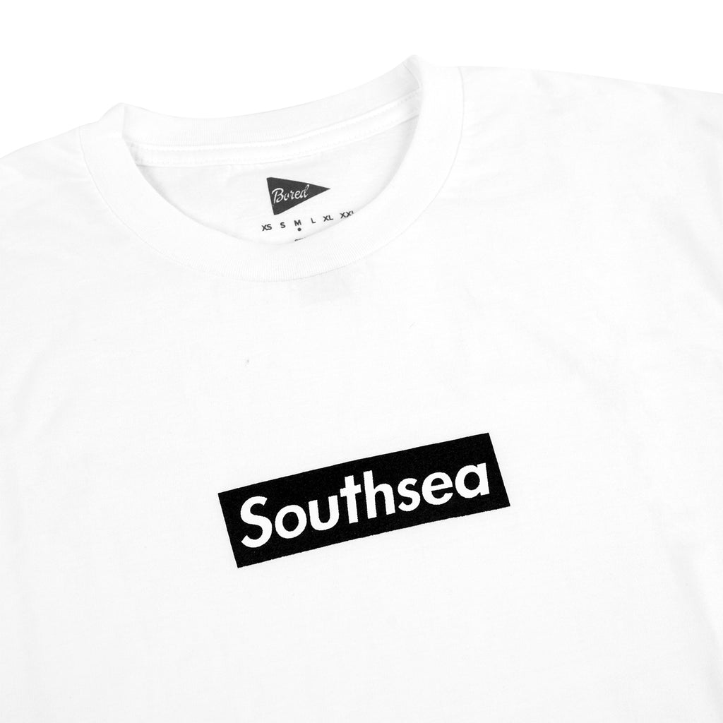 "Bored of Southsea ""Southsea"" T Shirt in White / Black Box - Detail"