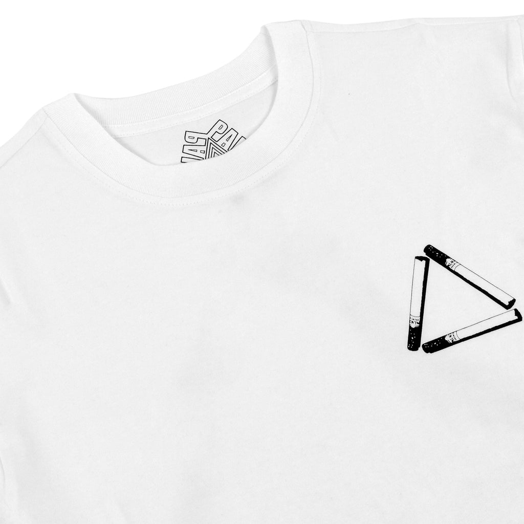 Palace Tri Smoke L/S T Shirt in White - Detail
