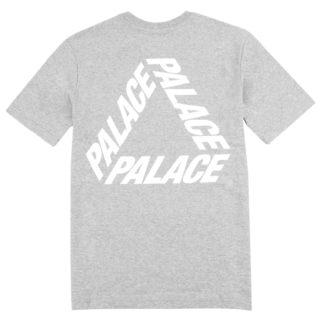 Palace P 3 T Shirt in Grey Marl / White - Back print