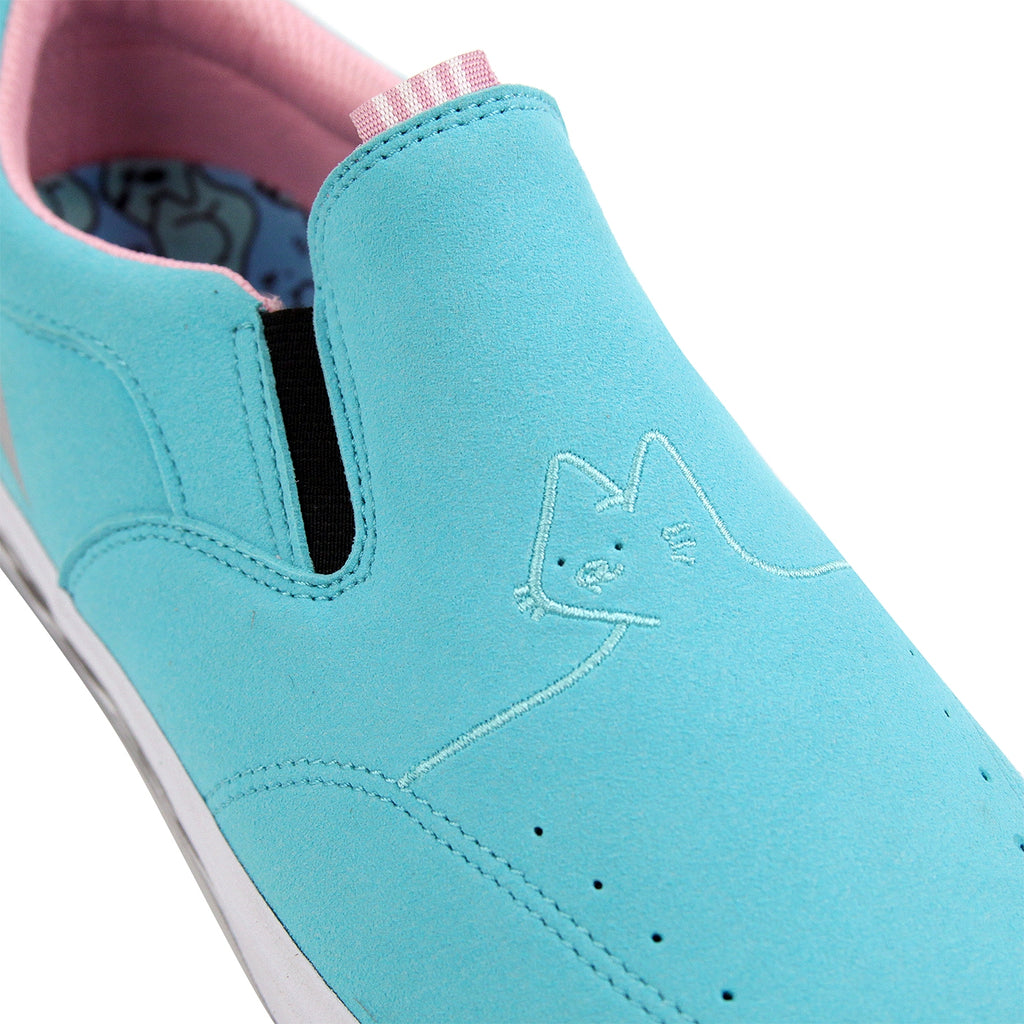 Lakai x Leon Karssen Owen VLK Skate Shoes in Blue Synthetic Suede - Detail