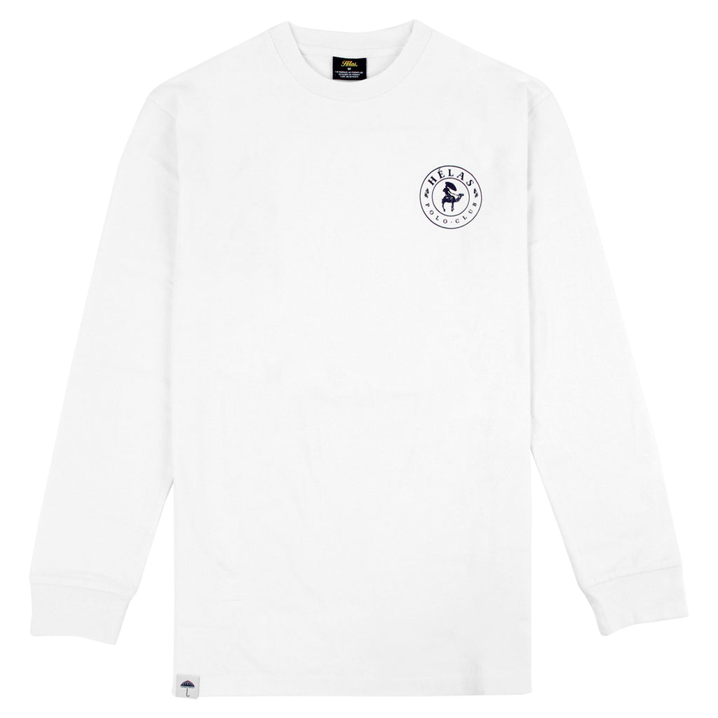 Helas Polo Club L/S T Shirt in White - Front