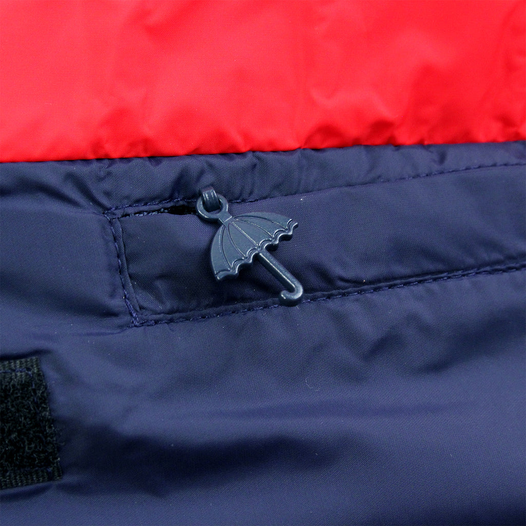Helas Kanguru Hooded Jacket in Navy / Red - Zip