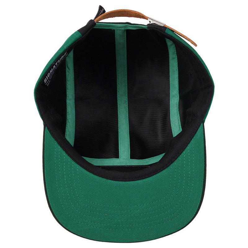 Signature Clothing Primitus 5 Panel Cap in Black / Strong Green - Inside