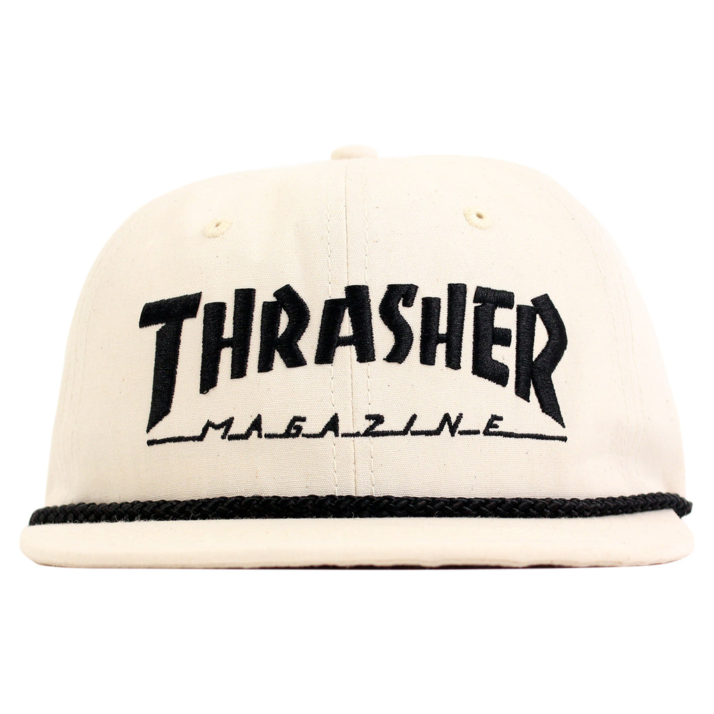 Thrasher Canvas Rope Cap in Natural - Front