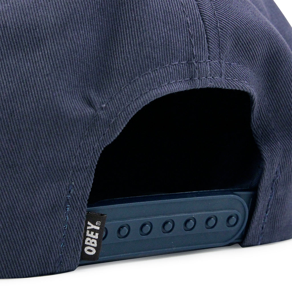 Obey Clothing Wasted Snapback Cap in Navy - Clip