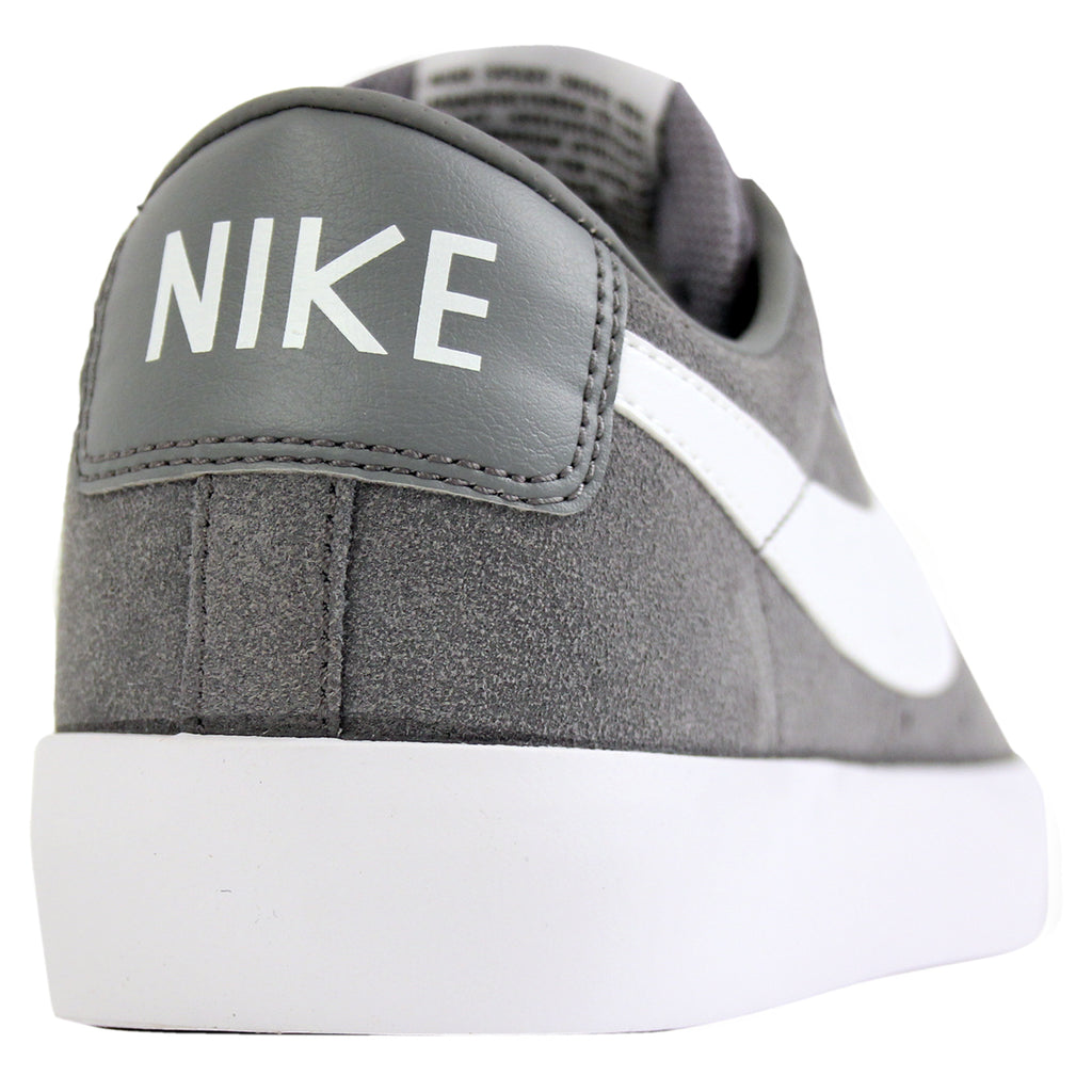 Nike SB Blazer Low Grant Taylor Shoes in Cool Grey / White / Tide Pool Blue - Heel