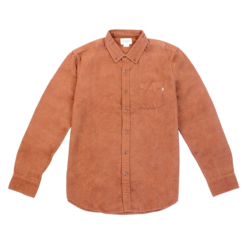 Obey Jones Woven Shirt in Caramel