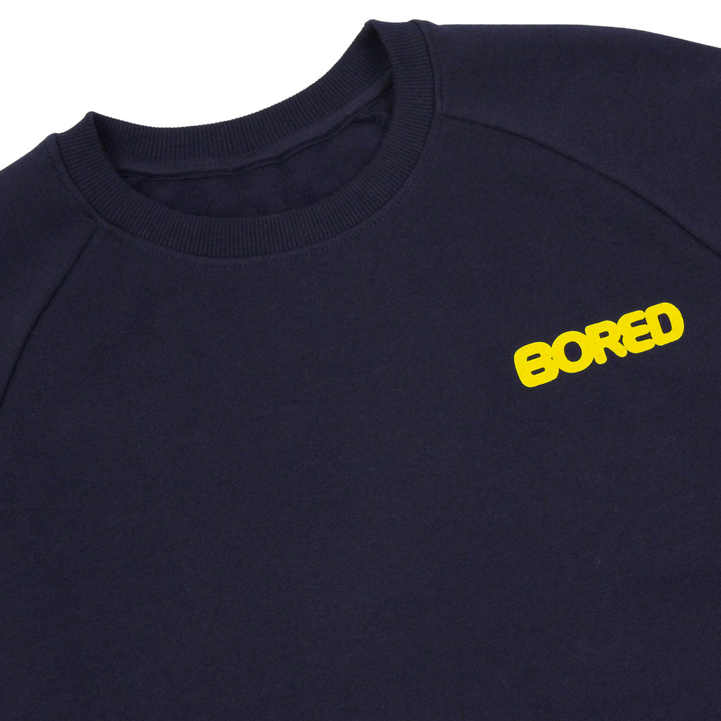 Bored of Southsea Bored Brigade Sweatshirt in Navy - Detail