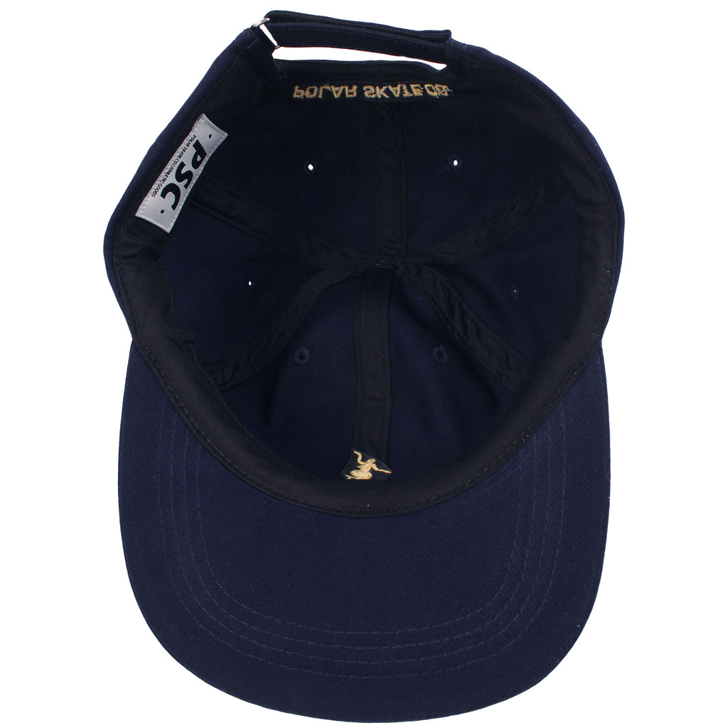 Polar Skate Co No Comply Cap in Navy / Yellow - Inside