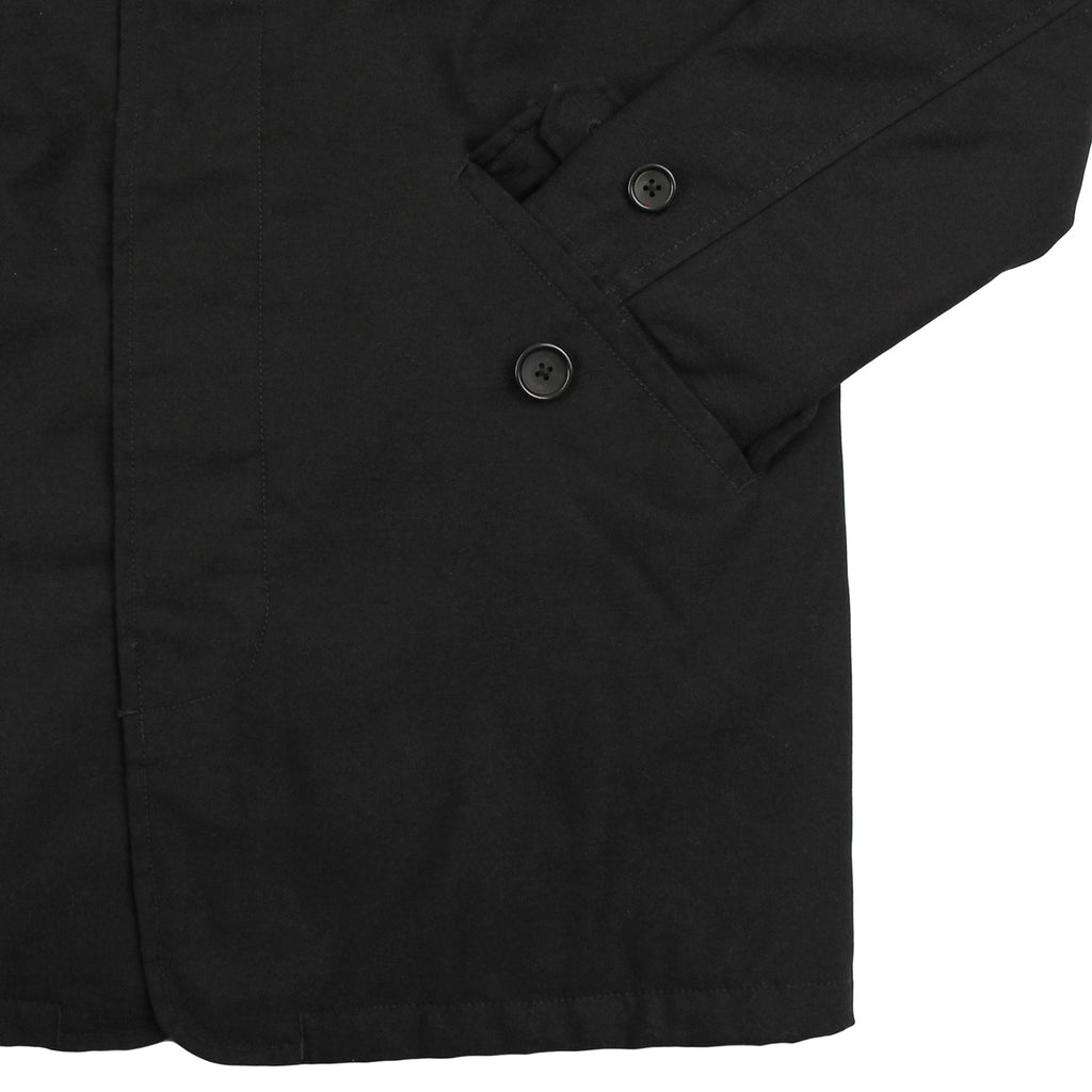 Carhartt WIP Harris Trenchcoat in Black - Sleeve
