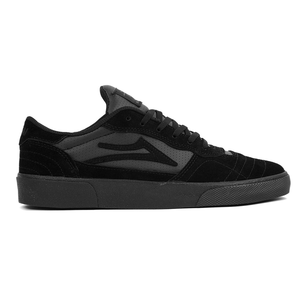 Lakai Cambridge Tae Turner Skate Shoes in Black / Gold Suede