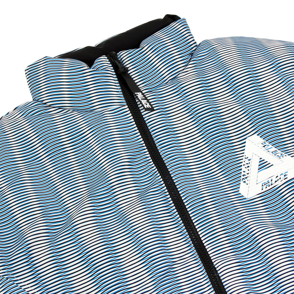 Palace x Adidas Reversible Down Jacket in Multi Colour / Black - Detail