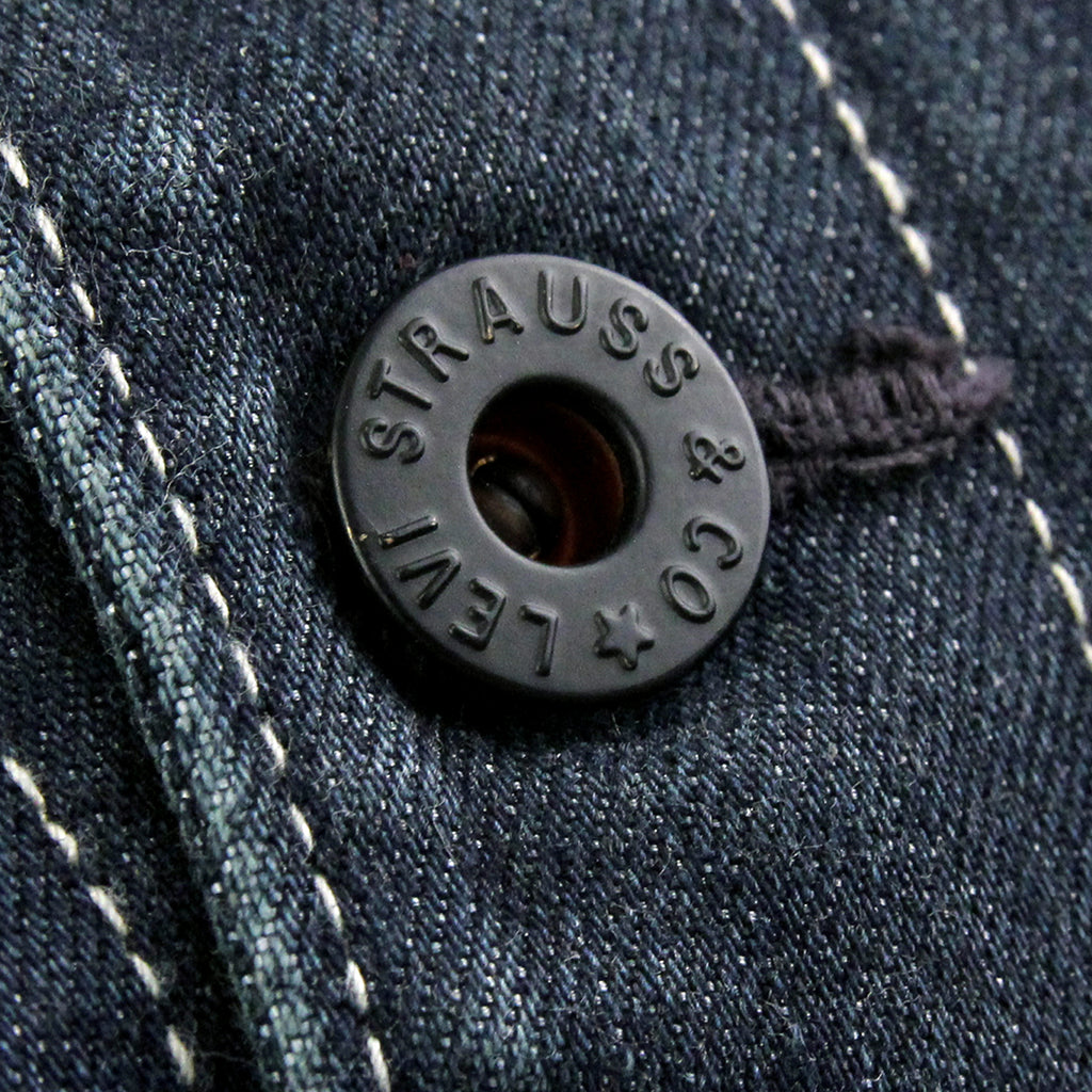 Levis Skateboarding Lined Chorecoat in Indigo - Button