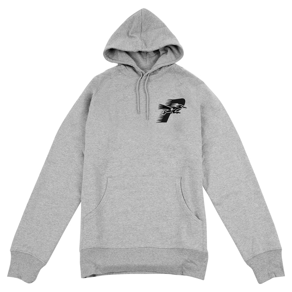 Palace Roadrunner Hoodie in Grey Marl