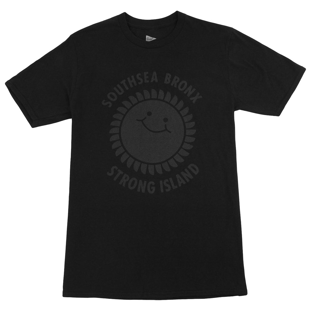 Southsea Bronx Strong Island T Shirt in Black on Black