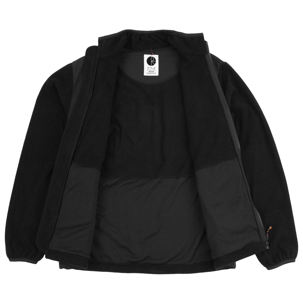 Polar Skate Co Halberg Jacket in Black / Orange - Open