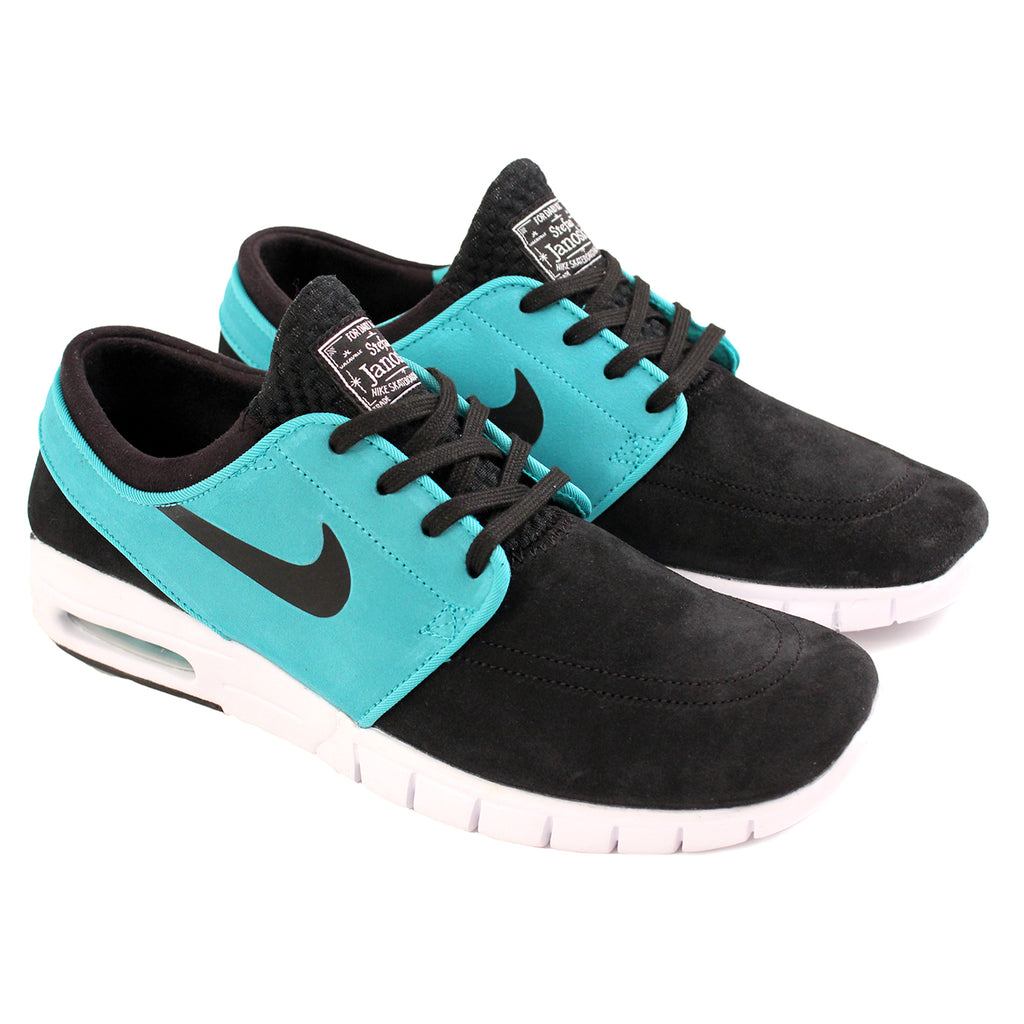 Nike SB Stefan Janoski Max L Shoes in Black / Lt Retro / White - Paired
