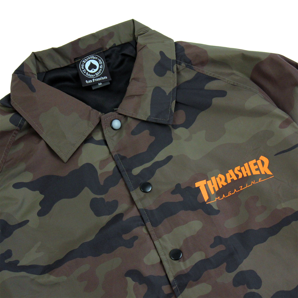 Thrasher Skategoat Coaches Jacket in Camo - Details