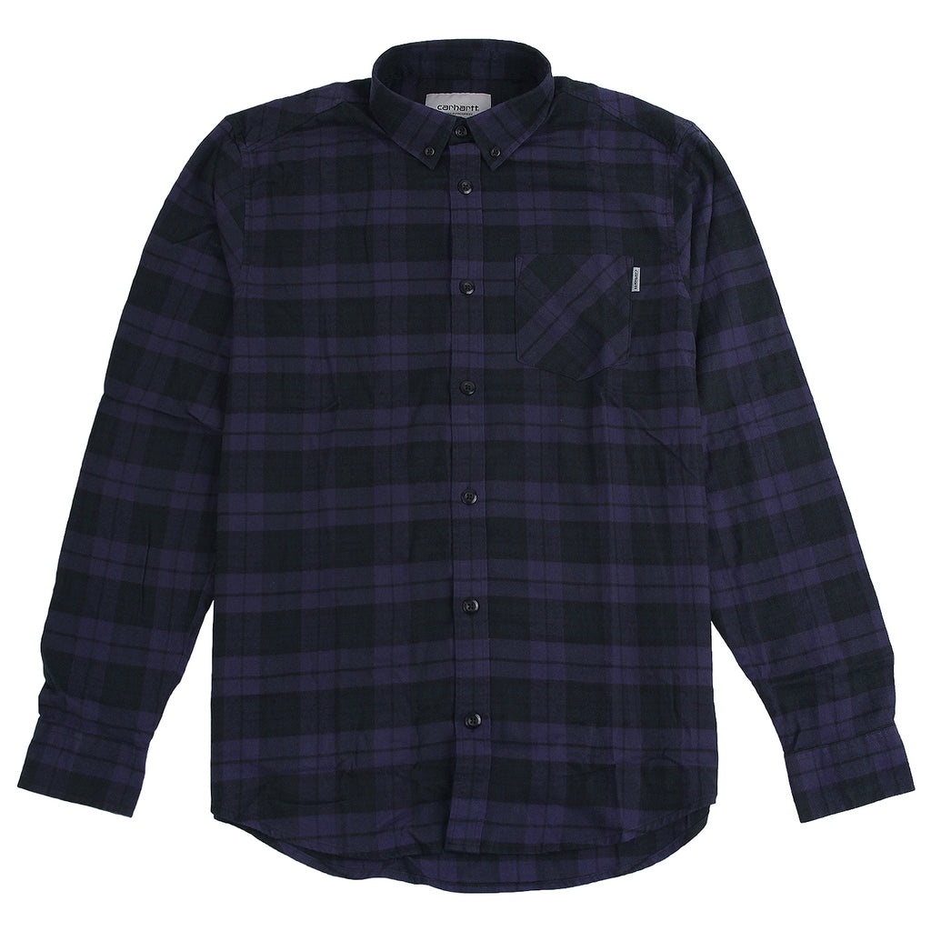Carhartt L/S Norton Shirt in Blue / Parsley