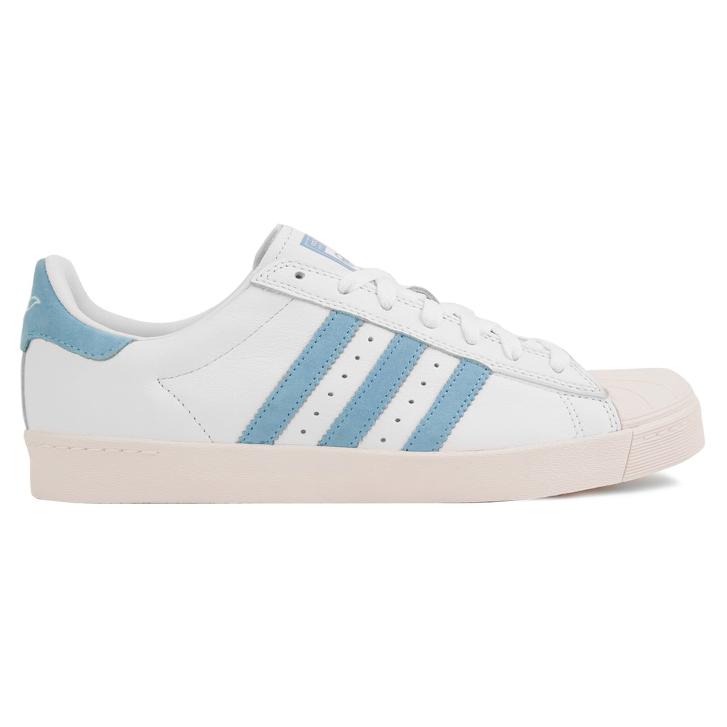 Adidas Skateboarding Superstar Vulc x Krooked Shoes in Footwear White / Customized / Chalk White