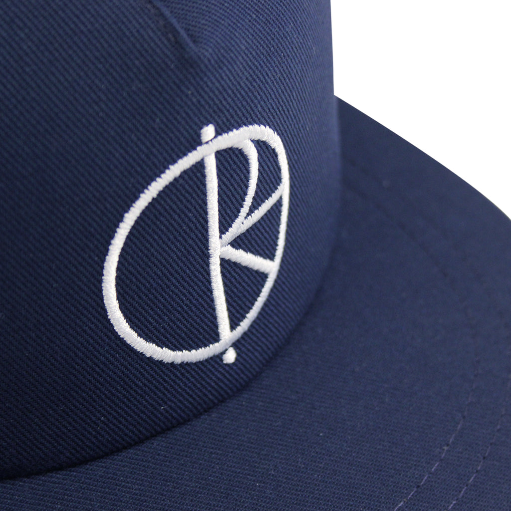Polar Skate Co Trucker Snapback Hat in Navy / Green - Details