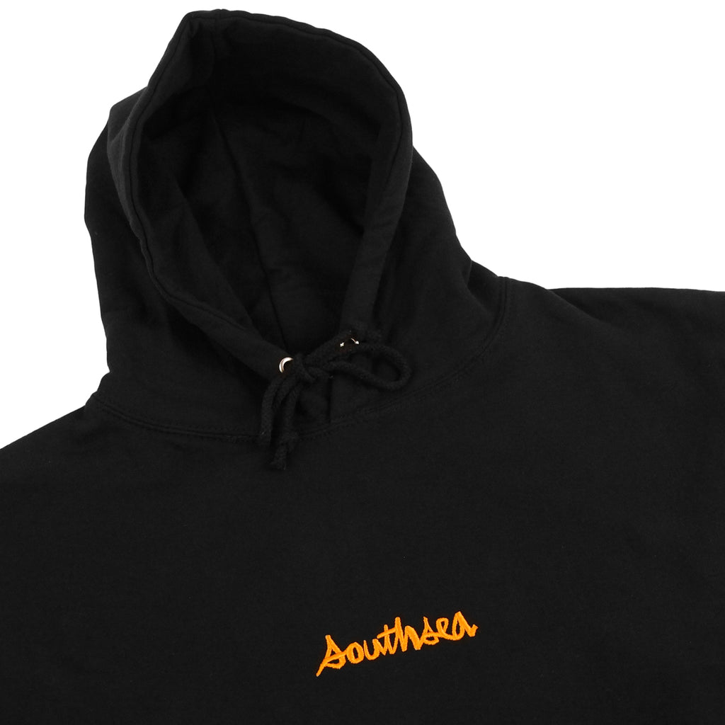 Bored of Southsea x Chocolate Skateboards Chunk The World Hoodie in Black  - Detail