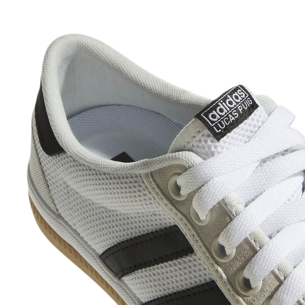 Adidas Lucas Premiere Shoes in Crystal White / Core Black / Gum4 - Detail