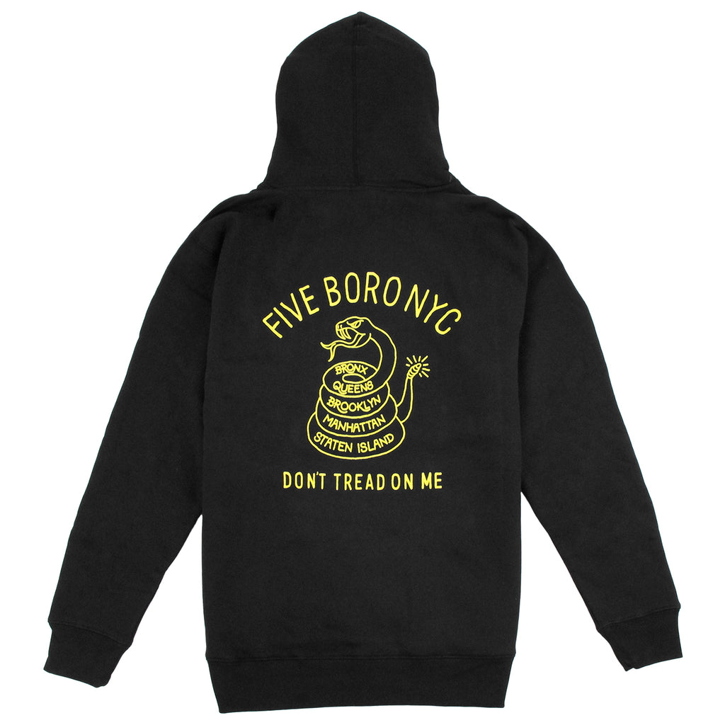 5Boro Don't Tread On Me Hoodie in Black / Yellow