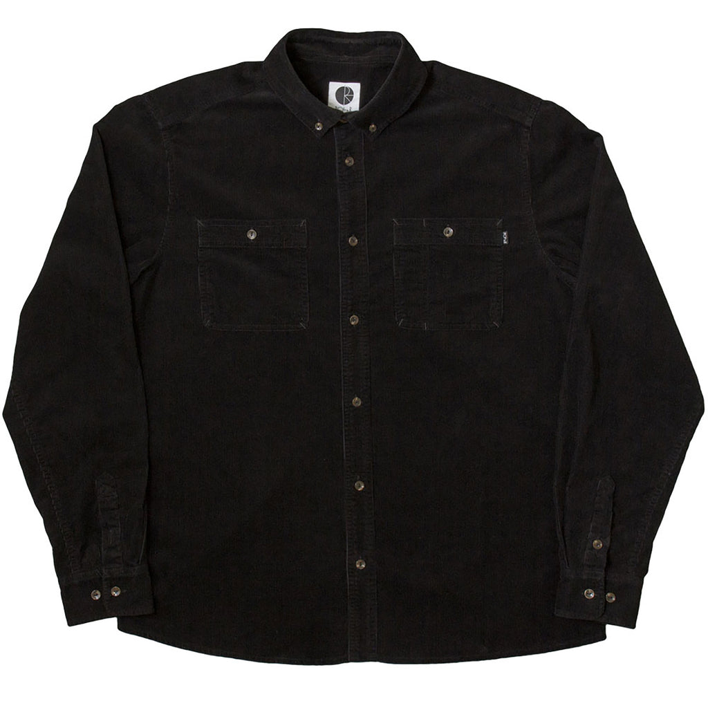 Polar Skate Co Corduroy Shirt in Black
