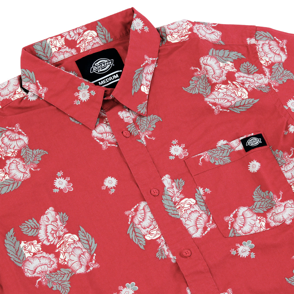 Dickies Mendota Shirt in English Red - Detail