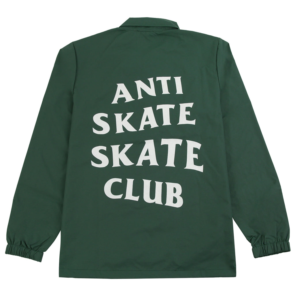 Bored of Southsea Anti Skate Club Coaches Jacket in Forest Green - Back Print