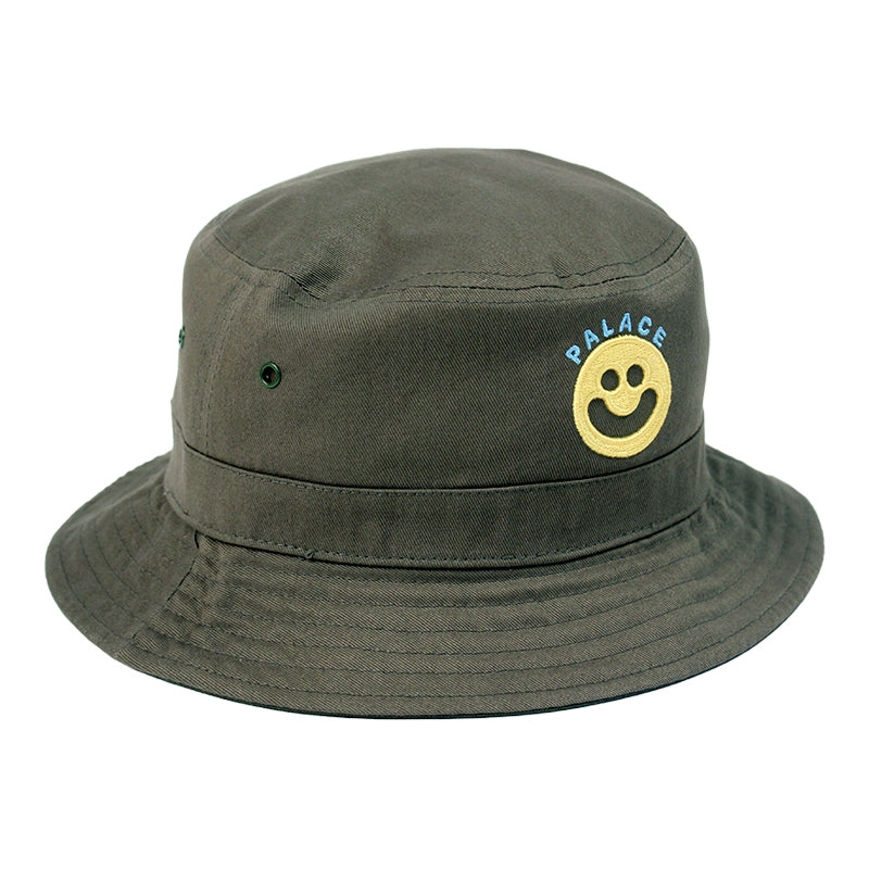 Palace Smiler Bucket Hat in Olive