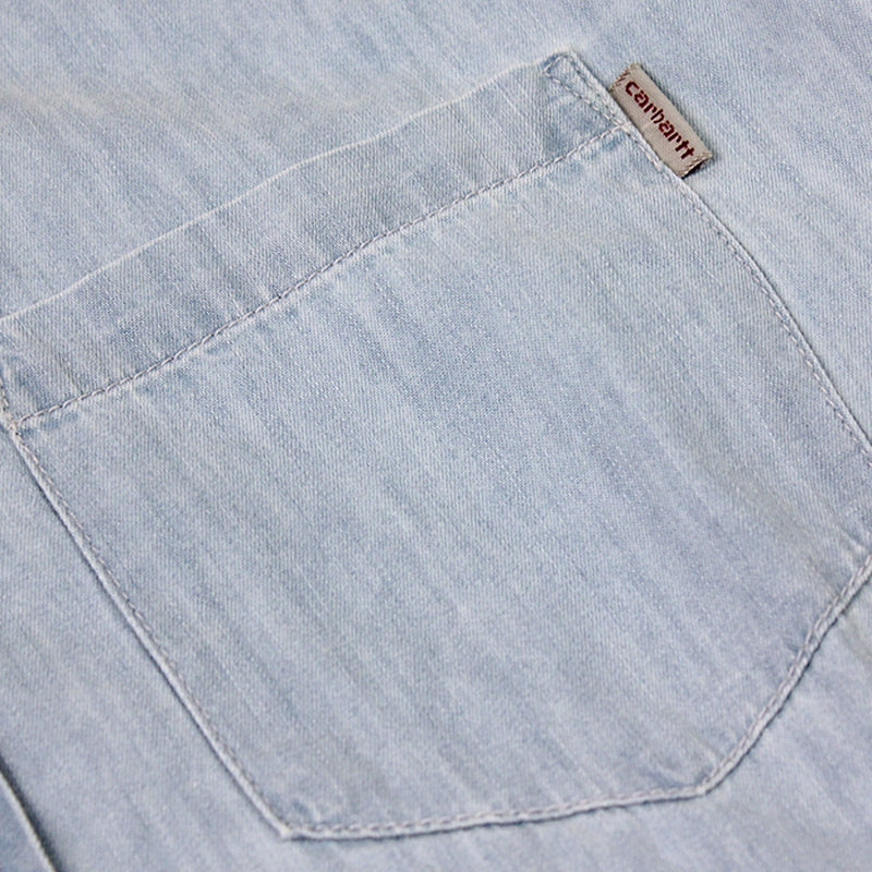 Civil L/S Shirt in Blue Stone Washed by Carhartt - Pocket