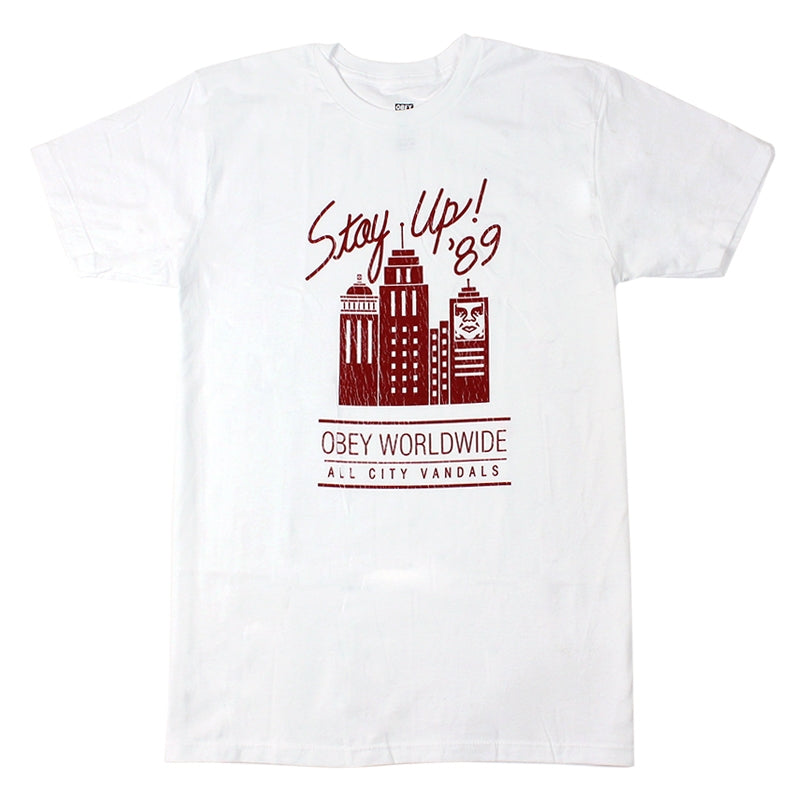 Obey Clothing Stay Up '89 T Shirt in White