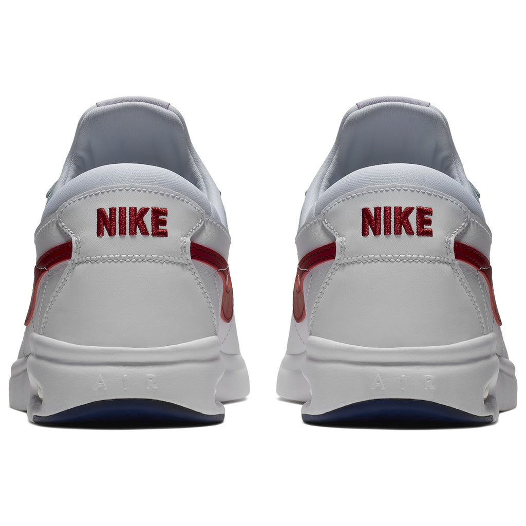 Nike SB Air Max Bruin Vapor Shoes in White / Gym-Red - Game Royal - Back