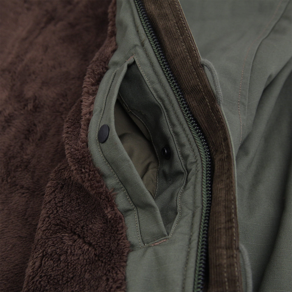 Levis Skateboarding Skate Pile Jacket in Olive Night - Inside Pocket 2
