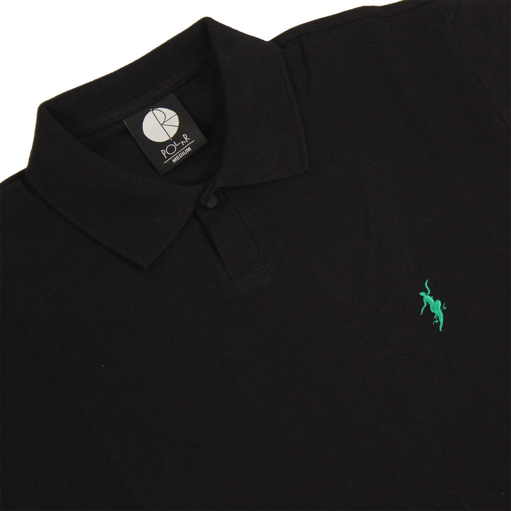 Polar Skate Co No Comply Pike T Shirt in Black / Green - Details