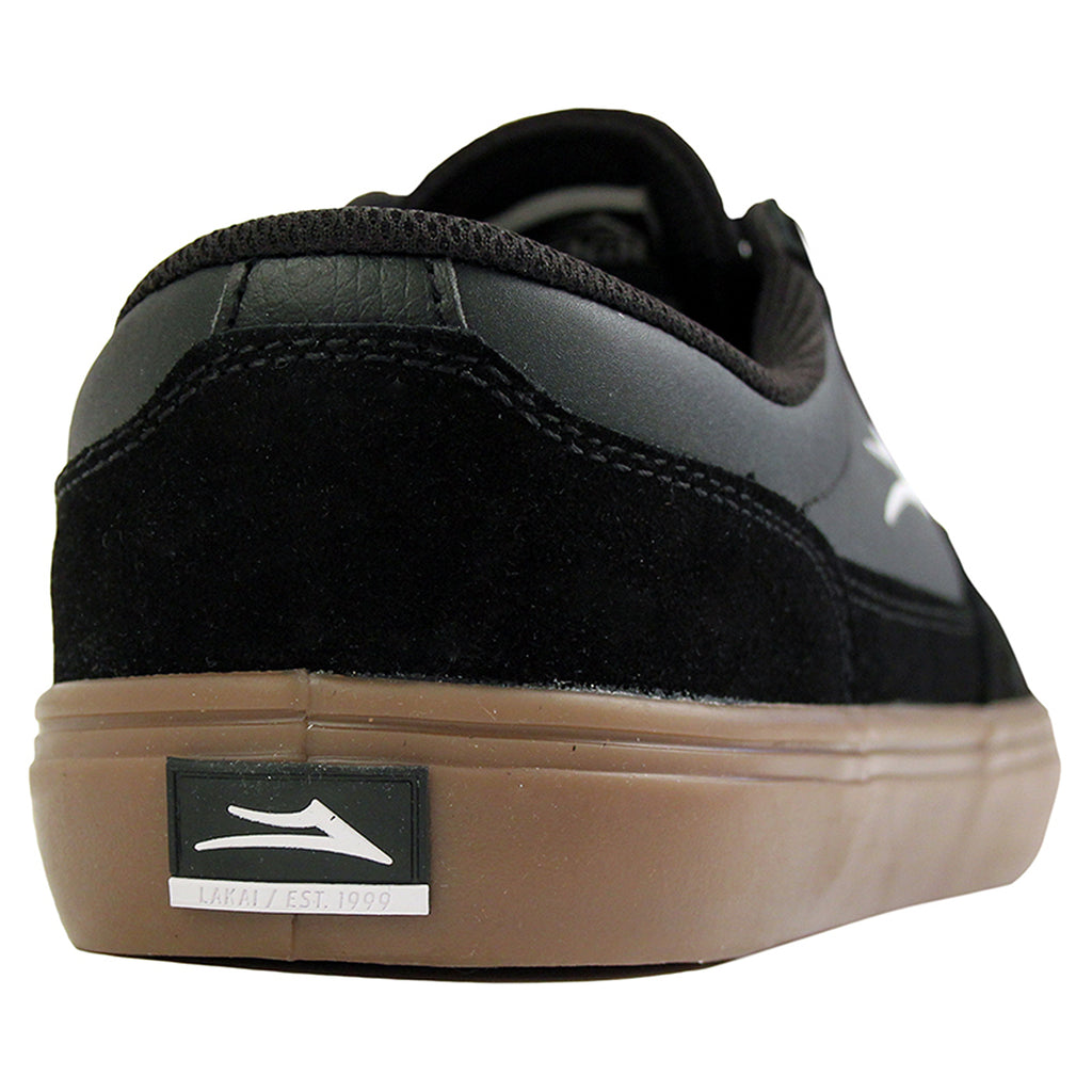 Lakai Parker Shoe in Black/Gum - Heel