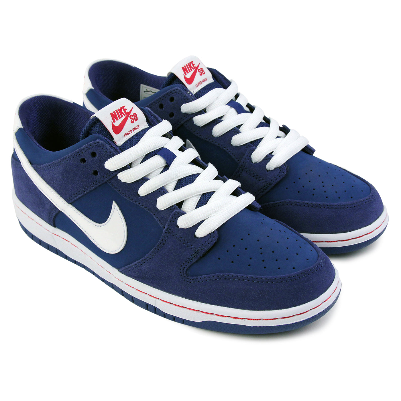 f43e8f189922 Dunk Low Pro Ishod Wair Shoes in Deep Royal   White   Gym Red by ...