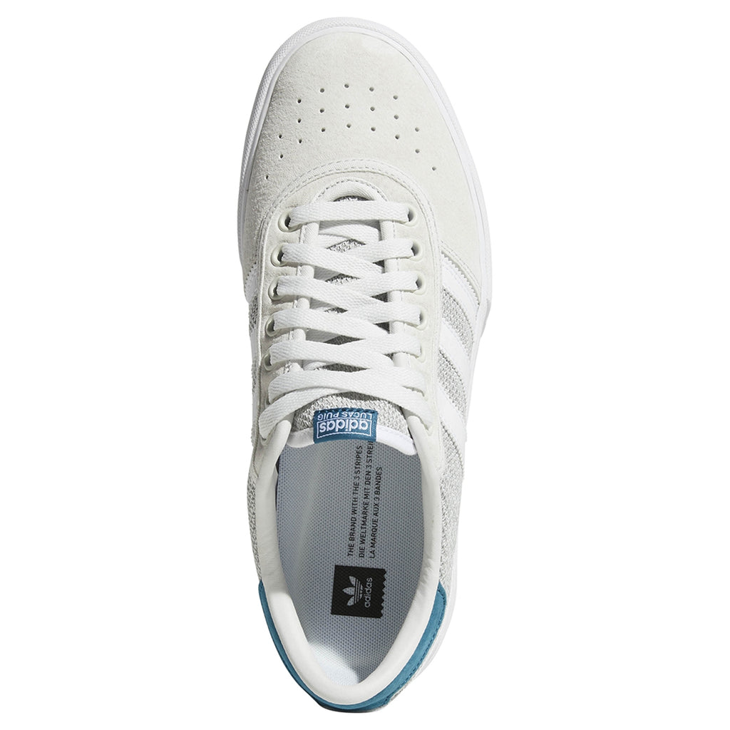 Adidas Lucas Premiere Shoes in Footwear White / Solid Grey / Real Teal - Top