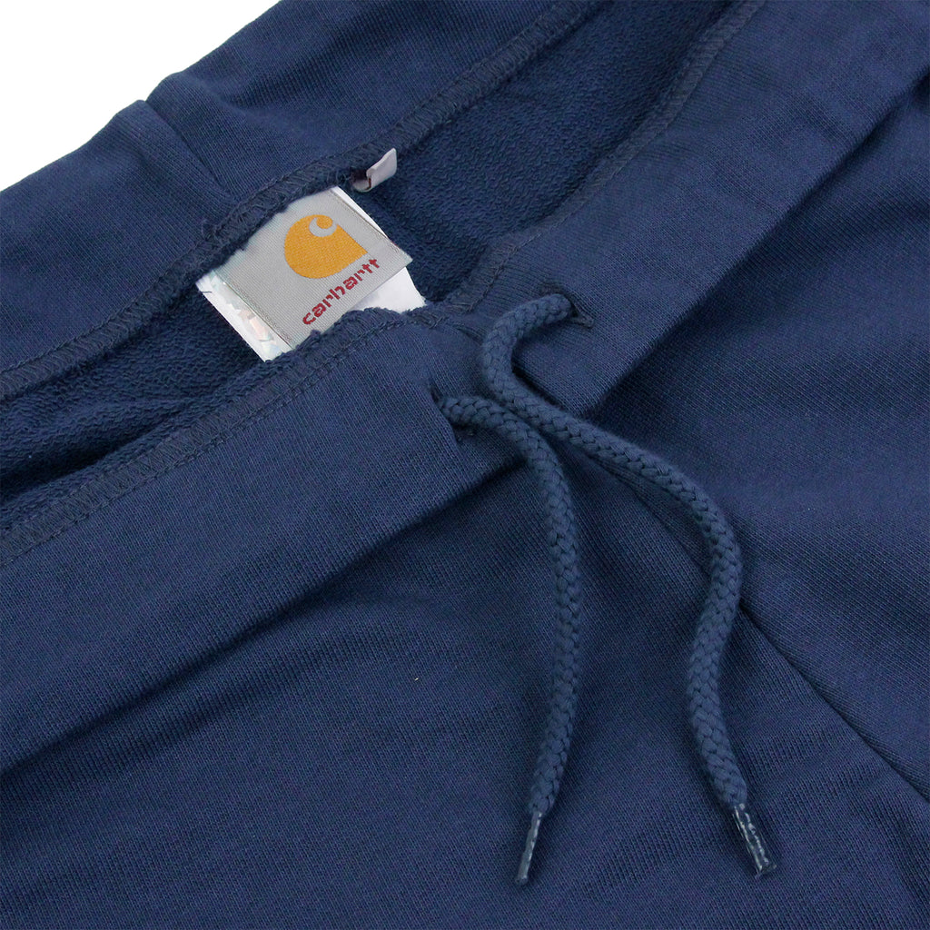 Carhartt College Sweat Short in Blue / White - Drawstring
