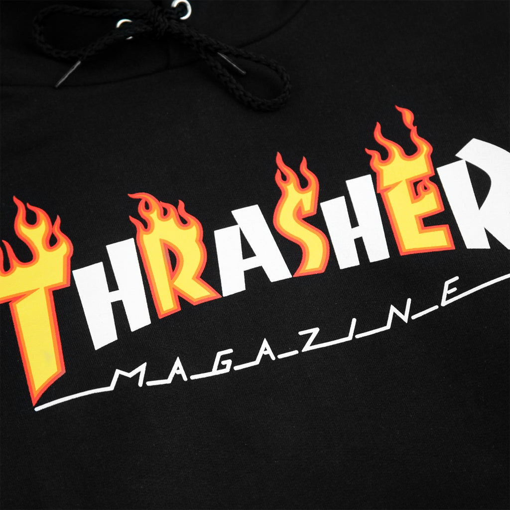 Thrasher Flame Mag Hoodie in Black - Print